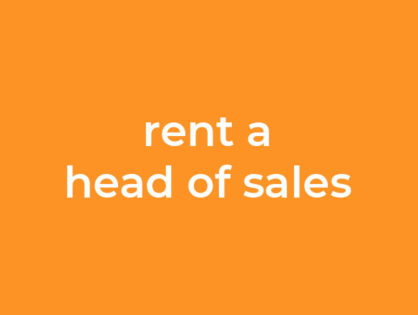 Rent a head of Sales - Interimsmanager für den Vertrieb