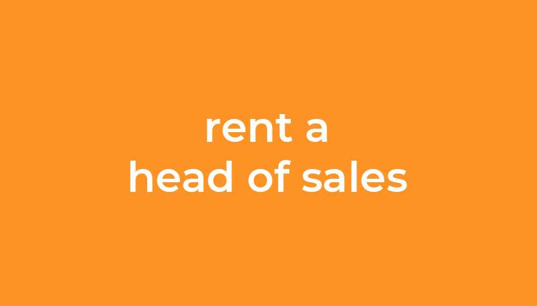 Rent a head of Sales - Interimsmanager für den Vertrieb